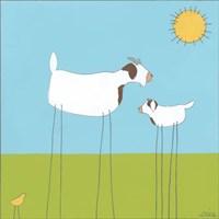 Stick-leg Goat I Fine Art Print