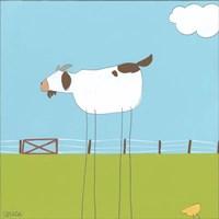 Stick-leg Goat II Framed Print