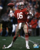 Joe Montana 1984 NFC Championship Game Action Framed Print