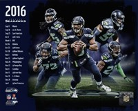 Seattle Seahawks 2016 Team Composite Framed Print