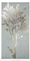 Sage Silhouette I - Metallic Foil Fine Art Print