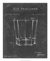 Barware Blueprint I Framed Print