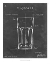 Barware Blueprint II Framed Print