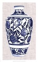 Blue & White Vase IV Framed Print