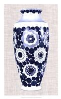 Blue & White Vase V Framed Print