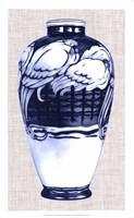 Blue & White Vase VI Framed Print