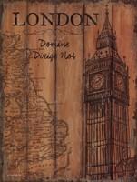 London Travel Poster Fine Art Print