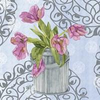 Garden Gate Flowers I Framed Print