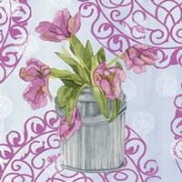 Garden Gate Flowers III Framed Print