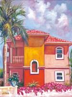Bougainvillea Villa Fine Art Print