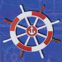 Captain's Wheel I Fine Art Print