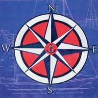 Nautical Compass I Fine Art Print