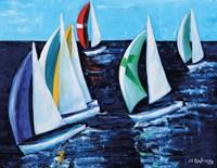Downwind Race Fine Art Print