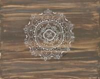 Woodgrain Mandala Fine Art Print
