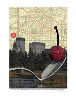 Minneapolis Cherry Spoon Fine Art Print