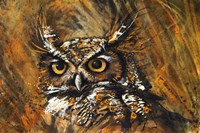 Klimt Owl Fine Art Print