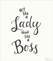 Lady Boss Fine Art Print