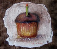 Birthday Cake a la Fresco Framed Print