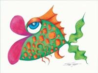 Flamboyant Fish III Fine Art Print
