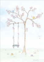 Cherry Blossom Swing Fine Art Print