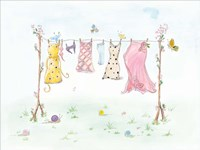 Cherry Blossom Laundry Day Fine Art Print