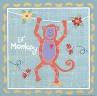 Beetle & Bob Happy Monkey Fine Art Print