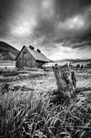 Stormy Barn Fine Art Print