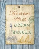 Beach Notes II Framed Print