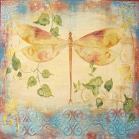 Aqua Dreams Dragonfly Fine Art Print