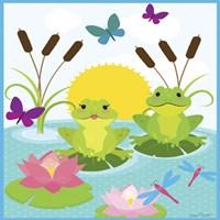 Frog Pond I Framed Print