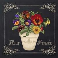 Fleur Pensee Framed Print