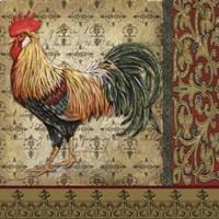 Vintage Rooster II Fine Art Print