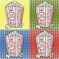 Popcorn Pop Art I Framed Print