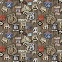Route 66 on Wood Fine Art Print