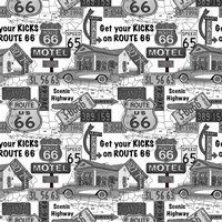 Route 66 - Grey Fine Art Print