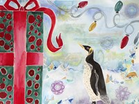 Merry Christmas Penguin Fine Art Print