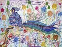 Bird in the Roses Fine Art Print