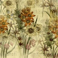 Floral Collage Music Fine Art Print