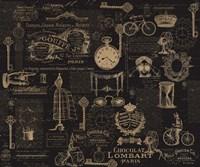 Vintage Steampunked Framed Print