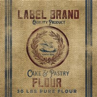 Cake Flour Burlap Bagf Framed Print