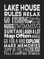 Lake House Rules Fine Art Print