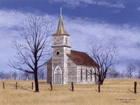 Little Church House On The Prairie Fine Art Print