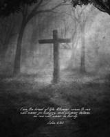 John 6:35 I am the Bread of Life (Cross) Fine Art Print