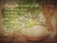 John 6:35 I am the Bread of Life (Grapes) Fine Art Print