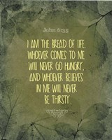 John 6:35 I am the Bread of Life (Leaves) Fine Art Print