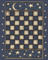 Star Checkerboard Framed Print