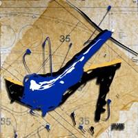 Blue Heel Framed Print