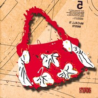 Bow Purse White On Red Fine Art Print