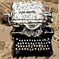 Just Words 1 Fine Art Print