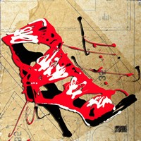 Red Strap Boot Fine Art Print